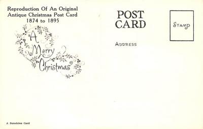 xms001879 - Christmas Post Card Old Vintage Antique Xmas Postcard  back