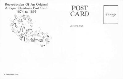 xms001881 - Christmas Post Card Old Vintage Antique Xmas Postcard  back
