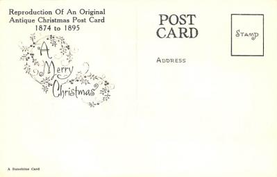 xms001883 - Christmas Post Card Old Vintage Antique Xmas Postcard  back