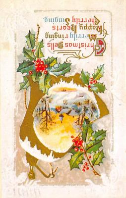 xms001893 - Christmas Post Card Old Vintage Antique Xmas Postcard