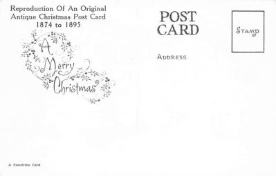xms001893 - Christmas Post Card Old Vintage Antique Xmas Postcard  back