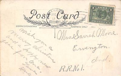xms001961 - Christmas Post Card Old Vintage Antique Xmas Postcard  back