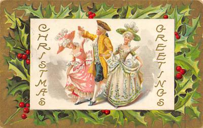 xms002075 - Christmas Postcard Antique Xmas Post Card