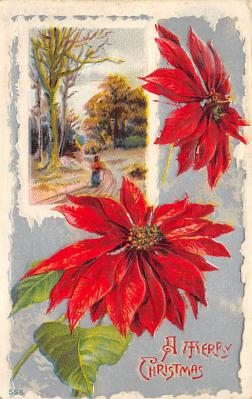 xms002111 - Christmas Postcard Antique Xmas Post Card
