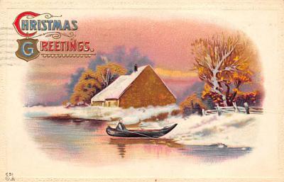 xms002115 - Christmas Postcard Antique Xmas Post Card