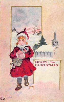 xms002119 - Christmas Postcard Antique Xmas Post Card