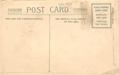 xms002199 - Christmas Postcard Antique Xmas Post Card  back