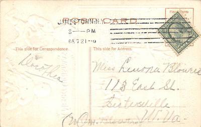 xms002629 - Christmas Post Card Antique Xmas Postcard  back