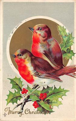 xms002643 - Christmas Post Card Antique Xmas Postcard