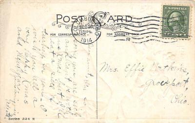 xms002643 - Christmas Post Card Antique Xmas Postcard  back