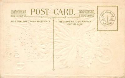 xms002707 - Christmas Post Card Antique Xmas Postcard  back