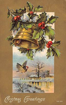 xms004069 - Christmas Holiday Postcard Vintage Xmas Post Card
