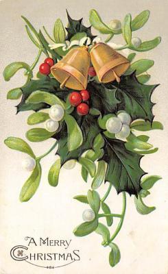 xms004071 - Christmas Holiday Postcard Vintage Xmas Post Card