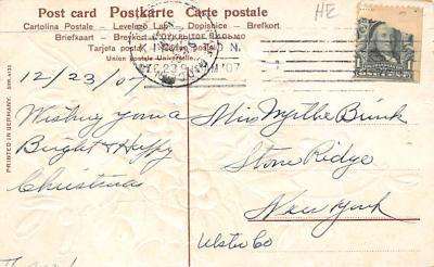 xms004071 - Christmas Holiday Postcard Vintage Xmas Post Card  back