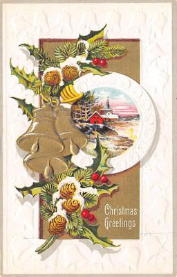 xms004075 - Christmas Holiday Postcard Vintage Xmas Post Card