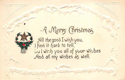 xms004085 - Christmas Holiday Postcard Vintage Xmas Post Card