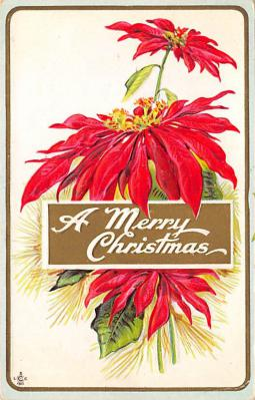 xms004093 - Christmas Holiday Postcard Vintage Xmas Post Card