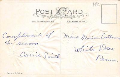 xms004093 - Christmas Holiday Postcard Vintage Xmas Post Card  back