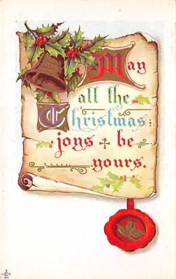 xms004097 - Christmas Holiday Postcard Vintage Xmas Post Card