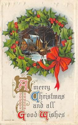 xms004101 - Christmas Holiday Postcard Vintage Xmas Post Card
