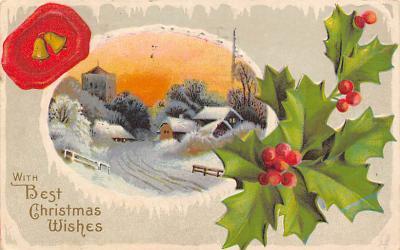 xms004109 - Christmas Holiday Postcard Vintage Xmas Post Card