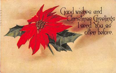 xms005883 - Christmas Post Card Old Vintage Antique Xmas Postcard