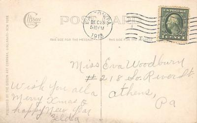 xms005883 - Christmas Post Card Old Vintage Antique Xmas Postcard  back