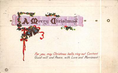 xms005979 - Christmas Post Card Old Vintage Antique Xmas Postcard