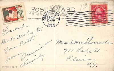 xms005979 - Christmas Post Card Old Vintage Antique Xmas Postcard  back