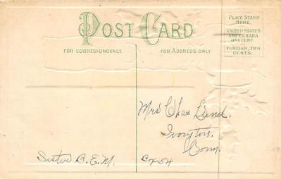 xms006133 - Christmas Post Card Old Vintage Antique Xmas Postcard  back