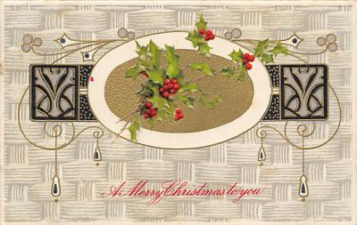 xms006159 - Christmas Post Card Old Vintage Antique Xmas Postcard