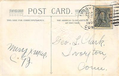 xms006159 - Christmas Post Card Old Vintage Antique Xmas Postcard  back