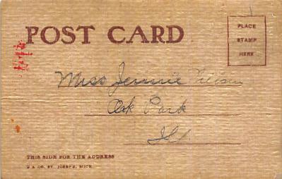 xms100001 - Santa Claus Post Card Old Vintage Antique Christmas Postcard  back