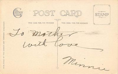 xms100037 - Santa Claus Post Card Old Vintage Antique Christmas Postcard  back