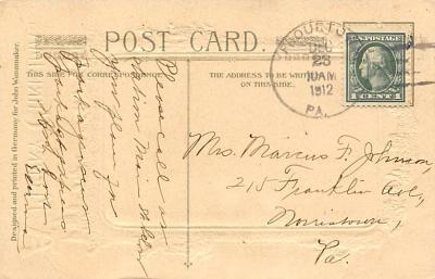xms100041 - Santa Claus Post Card Old Vintage Antique Christmas Postcard  back