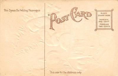 xms100113 - Santa Claus Post Card Old Vintage Antique Christmas Postcard  back