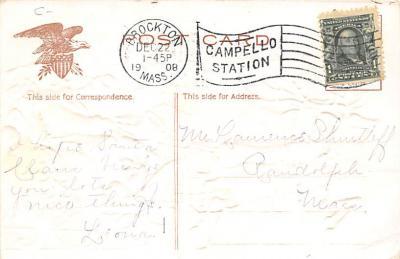xms100157 - Santa Claus Post Card Old Vintage Antique Christmas Postcard  back