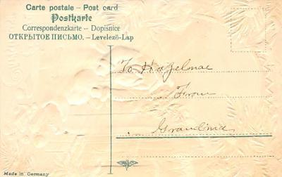 xms100185 - Santa Claus Post Card Old Vintage Antique Christmas Postcard  back