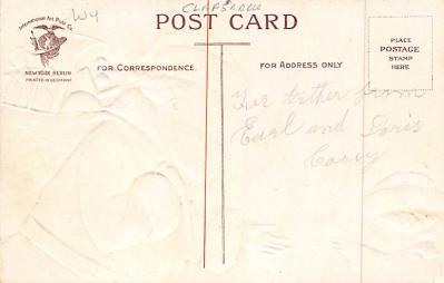 xms100553 - Santa Claus Post Card Old Antique Vintage Christmas Postcard  back
