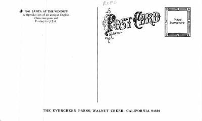 xms100633 - Santa Claus Post Card Old Antique Vintage Christmas Postcard  back