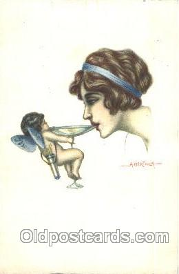 Artist A. Bertiglia, Postcard Post Card
