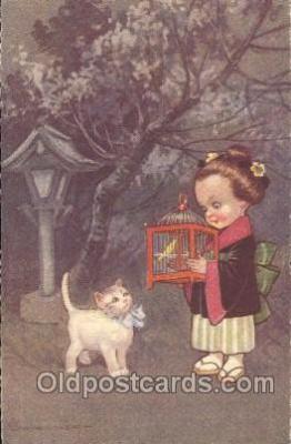 xrt011023 - E. Columbo (Italy) Artist Signed Postcard Postcards