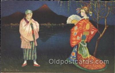 xrt011085 - E. Columbo (Italy) Artist Signed Postcard Postcards