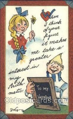 Valentine Series no. 403 Artist Dwig, Dwiggens, Postcard Post Card