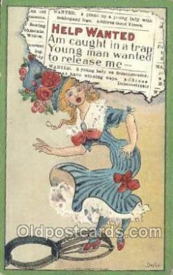 xrt015143 - Help Wanted Artist Dwig, Dwiggens, Postcard Post Cards