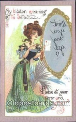 xrt015218 - Dwig Postcard Dwiggens Post Card Artist Signed Old Vintage Antique