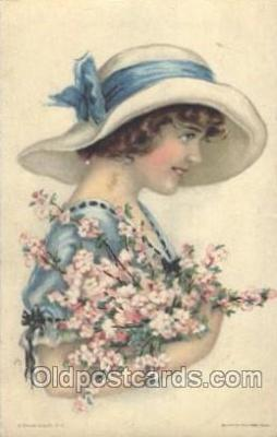 xrt018024 - Alice Luella Fidler (USA) Artist Signed Postcard Postcards
