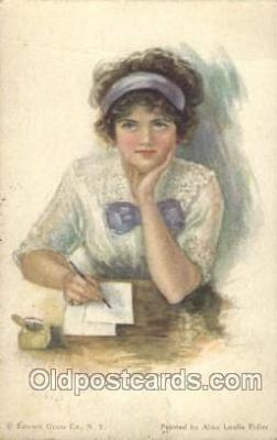 xrt018051 - Alice Luella Fidler (USA) Artist Signed Postcard Postcards