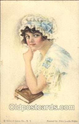 xrt018124 - Alice Luella Fidler (USA) Artist Signed Postcard Postcards