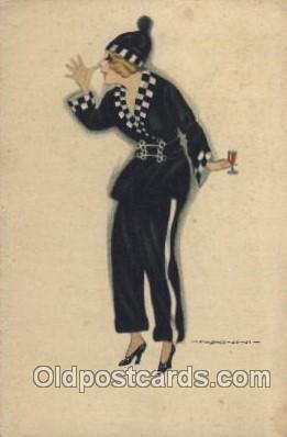 xrt047014 - Artist Signed Giovanni Nanni (Italy) Postcard Postcards